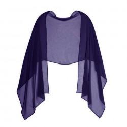 Etole mariage soie bleu violet