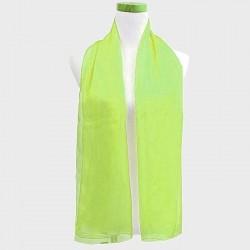 Foulard en voile vert anis