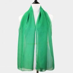 Foulard en voile vert foncé
