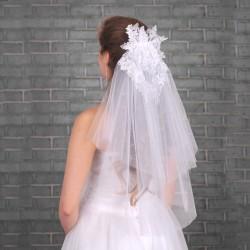Voile mariage brodé de...