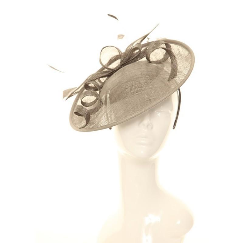 Chapeau mariage Bibi chapeau marron clair