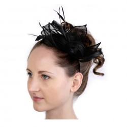 Chapeau mariage Accessoire de coiffure headband noir