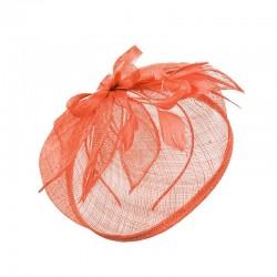 Chapeau mariage Bibi mariage orange corail