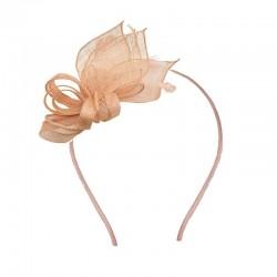 Chapeau mariage Bibi en sisal abricot nude
