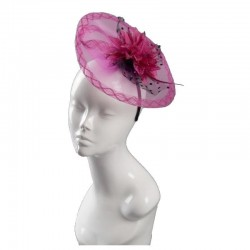 Chapeau de ceremonie rose fuschia