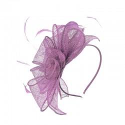 Chapeau mariage Accessoire de coiffure rose mauve lilas