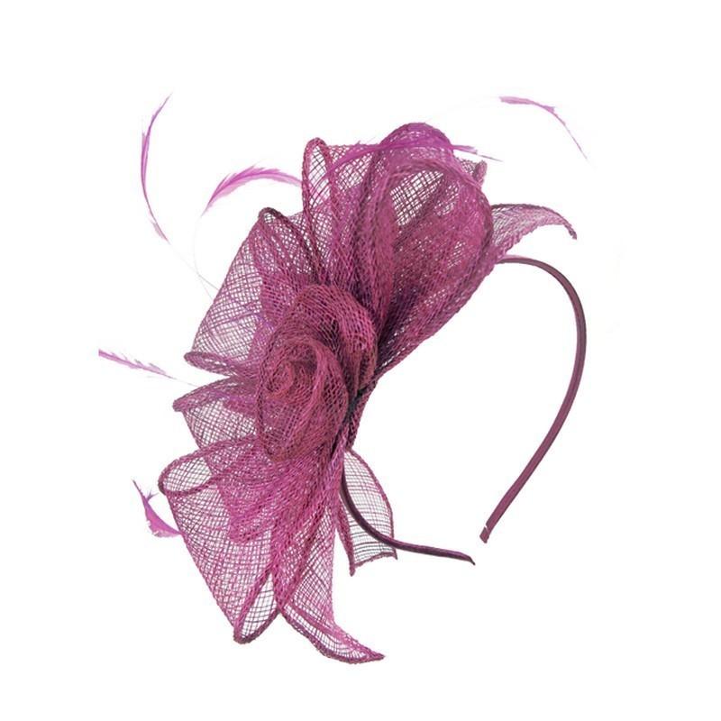 Chapeau mariage Accessoire de coiffure rose fuchia fuschia