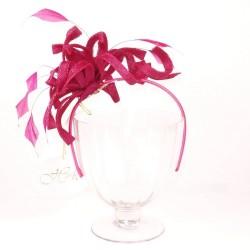 Chapeau mariage Headband bibi lys rose fushia