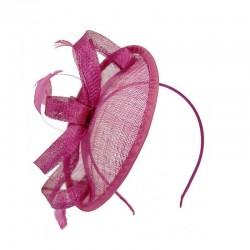 Chapeau mariage Headband fleur voile organza rose