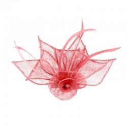 Chapeau mariage Accessoire cheveux ou broche rose
