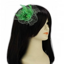Chapeau mariage Fascinateur accessoire coiffure vert