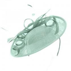 Chapeau de mariage vert clair