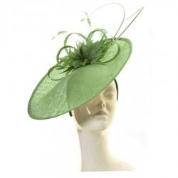 Chapeau mariage Chapeau de mariage fleur vert anis