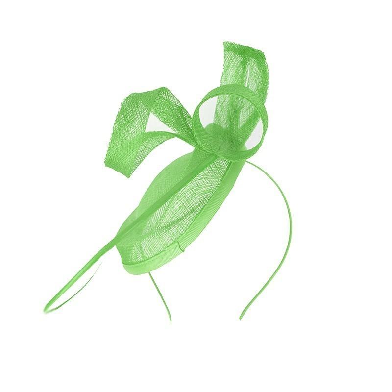 Chapeau mariage Bibi mariage calot vert anis