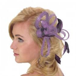 Chapeau mariage Bibi fascinateur violet pour cérémonie