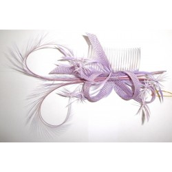 Chapeau mariage Bibi de cérémonie mauve violet