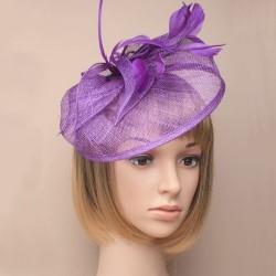 Chapeau mariage Bibi de ceremonie violet mauve