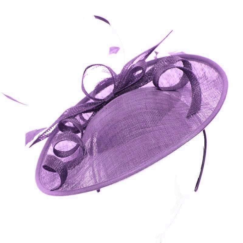 Chapeau mariage Bibi chapeau violet