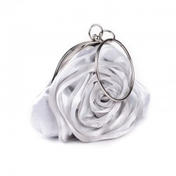 Sac mariage satin gris perle