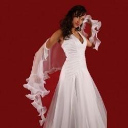 Foulard Etole mariage mousseline volantée