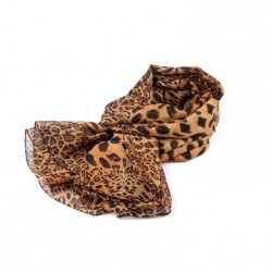 Foulard imprimé animal léopard