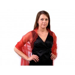 Foulard Etole rouge avec perles