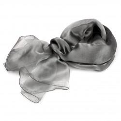 Foulard Etole reflet irisé métal gris argent