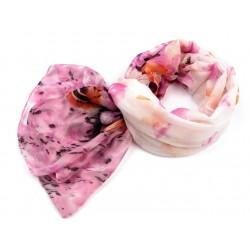 Etole fleurs rose blanc