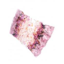 Foulard Etole fleurs rose blanc