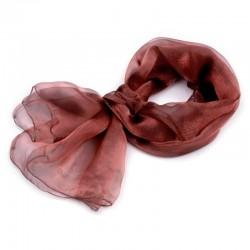 Foulard Etole reflet irisé métal marron roux