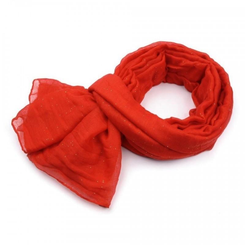 Foulard Etole paillettes rouge