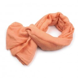 Foulard Etole paillettes orange saumon