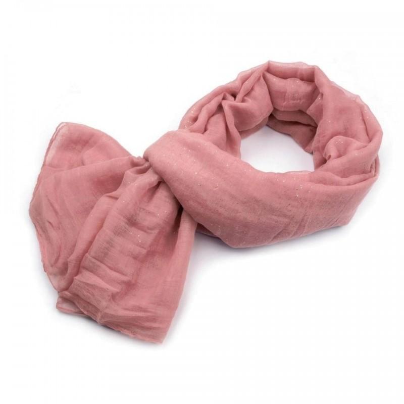 Foulard Etole paillettes rose