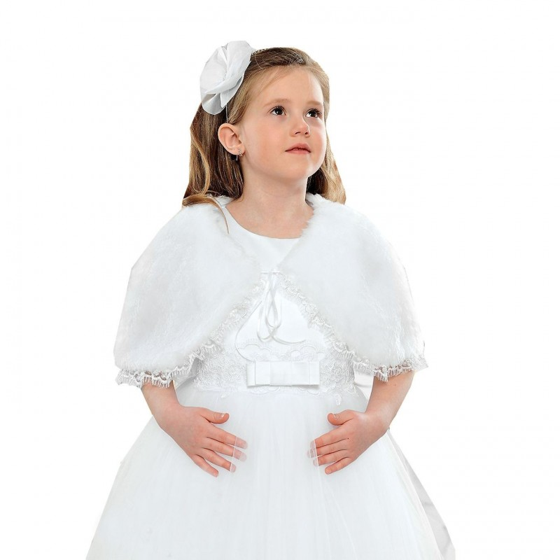 Etole fourrure enfant pour mariage