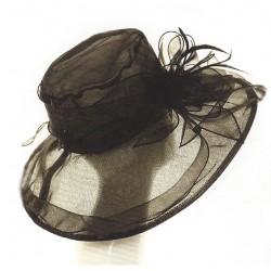 Chapeau mariage Chapeau de cérémonie en voile noir