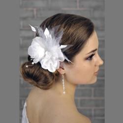 Chapeau mariage Accessoire coiffure mariage fleur et perles