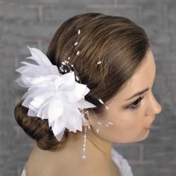 Accessoire coiffure mariage fleur perles