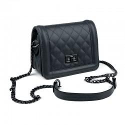 Mini sac matelassé noir