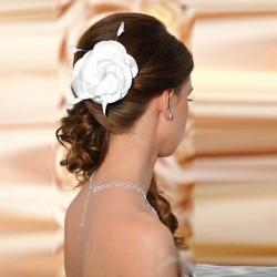 Fleur cheveux mariage satin cristal Swarovski