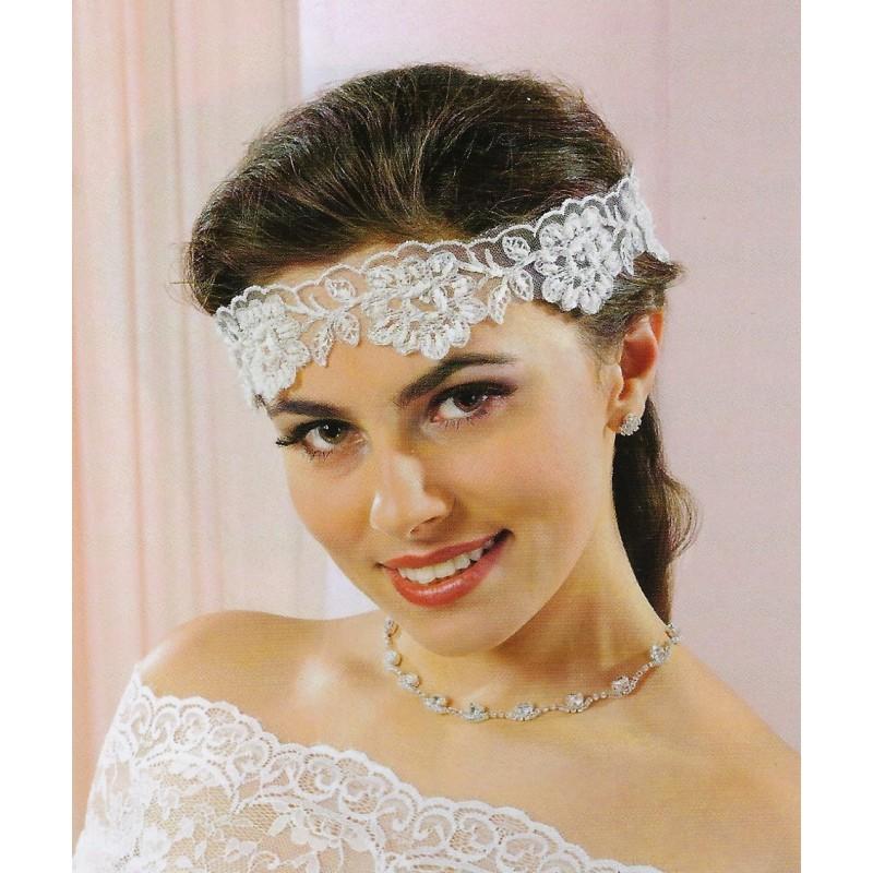 Headband mariage en dentelle et perles