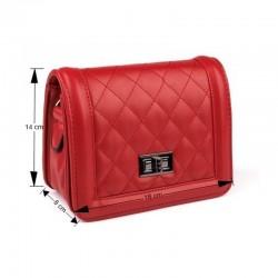 Mini sac matelassé rouge
