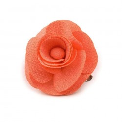 Broche ou fleur cheveux orange corail