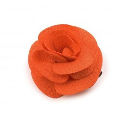 Broche ou fleur cheveux orange