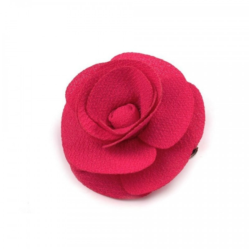 Broche ou fleur cheveux rose fuchsia