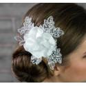Accessoire coiffure mariage fleur dentelle
