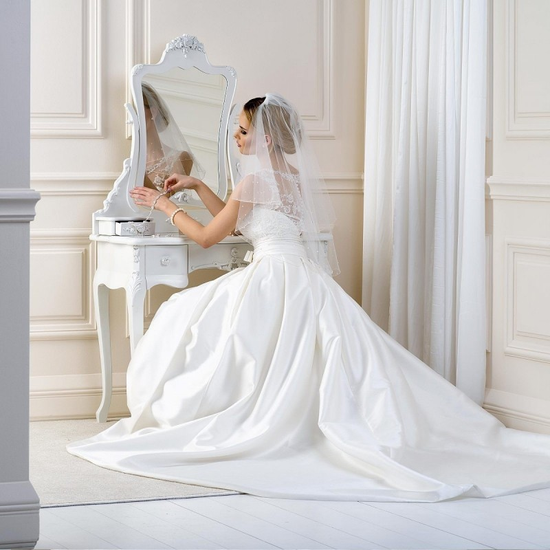 Voile mariage brodé de perles