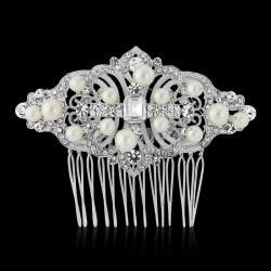 Peigne de mariée style baroque