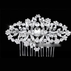 Peigne de mariage fleurs cristal cristal