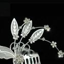 Peigne mariage cristal ailes d'ange