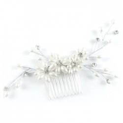 Peigne perles et cristaux
